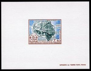 FSAT 1990 Sc#C109 Isle of Pigs Crozet Islands Map Deluxe Souvenir Sheet MNH