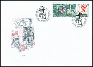 Slovakia 1994 FDC 40 Fiftieth Anniversary of the Slovak National Uprising - Fren
