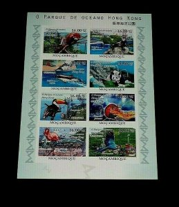 TOPICAL, ANIMALS, MOZAMBIQUE, 2010, WILDLIFE, IMPERF.SHEET/8, MNH, LOT #93, LQQK