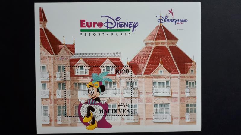 Disney - Maldives 1992. - Eurodisney ** MNH Block
