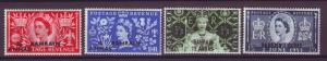 J10871 JL Stamps 1953 bahrain mh set4 #92-5 queen ovpt,s