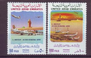 J20790 Jlstamps 1986 uae set mnh #220-1 airplanes