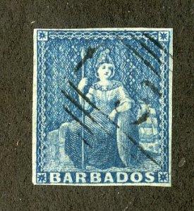 BARBADOS 6 USED SCV $70.00 BIN $30.00 ROYALTY