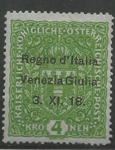 AUSTRIA N16, MINT HINGED, AUSTRIAN STAMPS OF 1916-18, OVERPRINTED, ISSUED UND...
