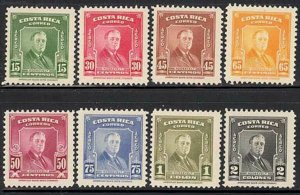 Costa Rica 1947 Roosevelt set Sc# 251/C167 NH