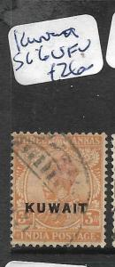 KUWAIT (P01003B)  ON INDIA KGV 3A  SG 6  VFU