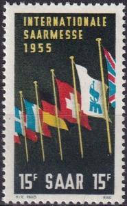 Saar #255  MNH  (SU7351)