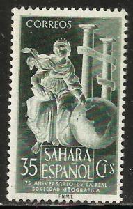 Spanish Sahara 1953 Scott# 66 MH (gum disturbance)
