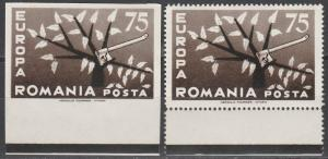 Romania Europa 1962 MNH Perf & Imperf  (S1957)