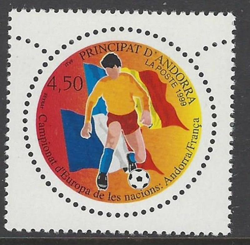 Andorra French 1999 Football Soccer VF MNH (509)