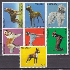 Paraguay, Scott cat. 2106a-f -2107. Various Dogs issue. ^