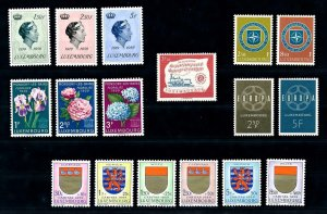 Luxembourg Luxemburg 1959 Complete Year Set MNH