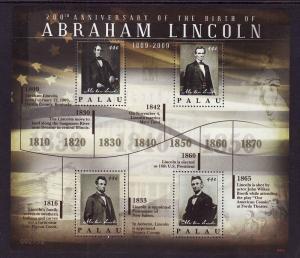 Palau-Sc#973-unused NH sheet-President Abraham Lincoln-2009-