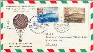 60206a  - STORIA POSTALE - AVIAZIONE: PALLONE Balloon flight SAN MARINO 1958