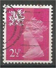GREAT BRITAIN, WALES, 1971, used 2 1/2p Scott WMMH1