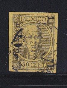 Mexico 49 Signed U Manuel Hidalgo, Mexican Leader