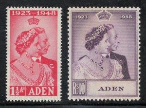 Aden 1949 Silver Wedding Omnibus Issue Scott # 30 - 31 MH