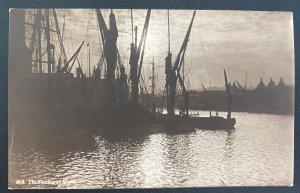 1907 Clapton England RPPC Postcard Cover To Yokohama Japan Shades Of Night