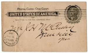 (I.B) US Postal Service : Postal Card 1c (Richmond 1902)