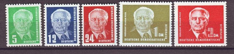 J22240 Jlstamps 1952-3 germany ddr set mh #113-7 pieck type
