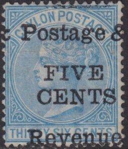 Ceylon 1885 SC 97 Mint