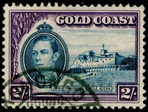 GOLD COAST SG130a, 2s Blue & Violet Perf 11½ x 12, FINE USED. Cat £21.