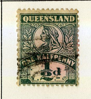 QUEENSLAND 124 USED SCV $2.75 BIN $1.10 ROYALTY