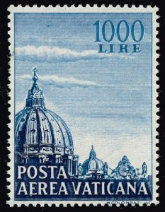 ITALY VATICAN CITY STAMP 1953 Airmail 1000 L MNH/OG $110