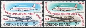 Norfolk Island 1968 21st Anniv. of Qantas service to Sydney CTO