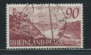 Germany Rhine Palatinate 6N38 1948-9 90pf Used