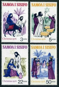 Samoa 442-445,445a,MNH.Michel 342-345,Bl.12.Christmas 1976.Mary,Joseph,Shepherds