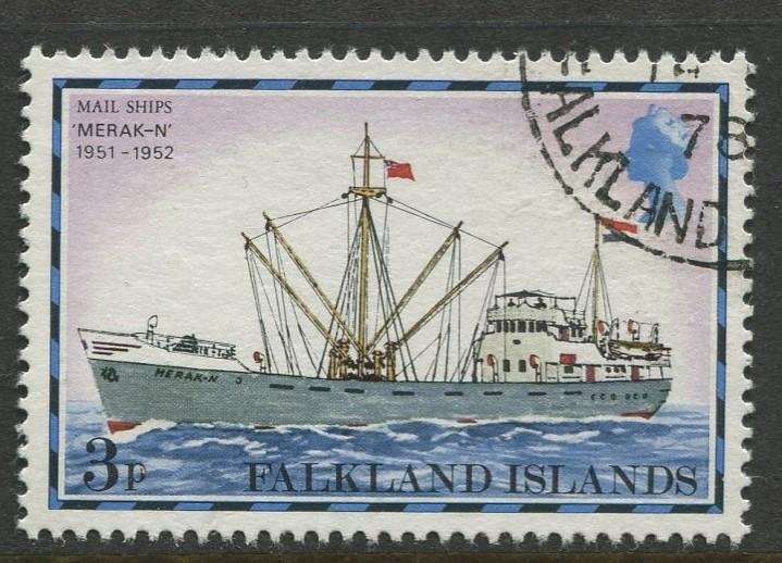Falkland Is.- Scott 262 - Ships Issue - 1978 - VFU - Single 3p Stamp