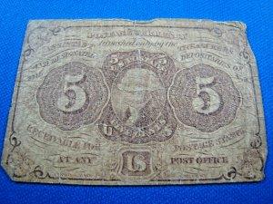 UNITED STATES, 1862 SCOTT #PC5 -  USED