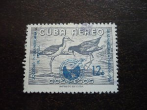 Stamps - Cuba - Scott# C151 - Used Airmail Stamp - Overprinted