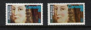 Canada #615a Very Fine Never Hinged Printed On Gum Side - Only 24 Exist