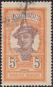 Martinique 66 Hinged Used 1922 Martinique Woman