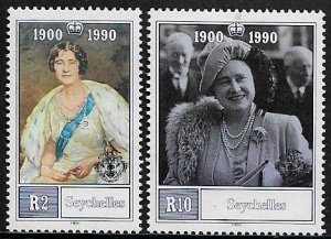 Seychelles #710-1 MNH Set - Queen Mother's 90th Birthday
