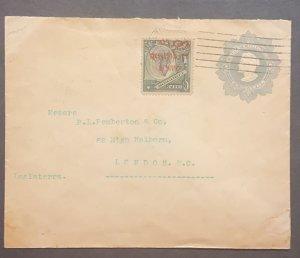 O) 1910 CHILE, ISLAS DE JUAN FERNANDEZ, COLUMBUS 10c on 1p in red, CHRISTO
