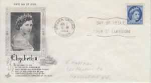 1954 Canada QEII Regular Issue (Scott 341) Artcraft FDC