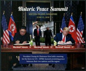 HERRICKSTAMP NEW ISSUES MARSHALL ISLAND U.S. & Korea Peace Summit (Pres. Trump)