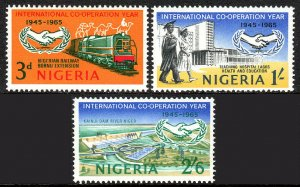 Nigeria 178-180, MNH. Intl. Cooperation Year and 20th anniv. of UN, 1965