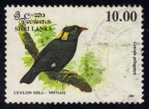 Sri Lanka #1082 Ceylon Hill-Mynah Bird, used (2.00)