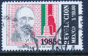 MEXICO 1418 75th Anniversary of the Revolution. Used. (1146)