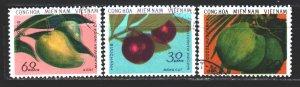 Vietnam. 1976. 61-63. Fruits, flora. USED.