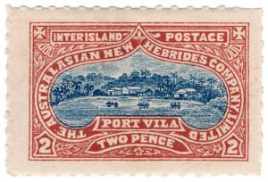(I.B) New Hebrides Postal : Interisland Postage 2d