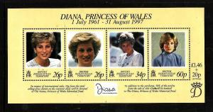 BIOT-Sc#197-unused NH sheet-Princess Diana-1997-