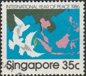Singapore,  #497 Used  From 1986