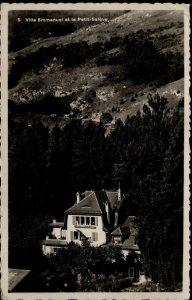 Villa Emmanuel Monnetier Mornex BW Real Photo Post Card Used 1939 France NY