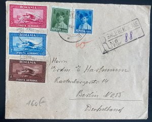 1930 Băile Herculane Romania Early Early Airmail Cover To berlin Germany