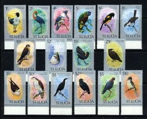 ST LUCIA Queen Elizabeth II 1976 The Complete Birds Set SG 415 to SG 430a MNH